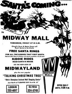 vintage elyria ohio 1974 Midway Mall Christmas events