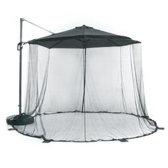 Features:  -Durable, high quality, close-woven polyester netting.  -Quick and simple to put up and take down.  -Zip-up carrying pouch included.  -The umbrella is not included, only the net.  -Diameter