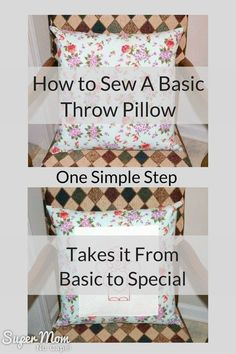 The Easiest Way to Make Your Own Decorative Pillows Home, Jo o meara and Throw pillows