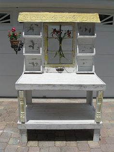 A wonderful potting bench from One Shabby Old House blog