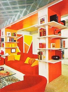 1977 inspiration modern white furniture and 70's additions #retrohomedecor
