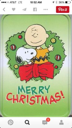 Merry Christmas from Snoopy and Charlie Brown by Rebecca Toney