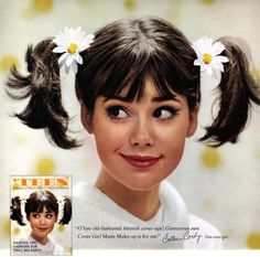 THE SWINGIN SIXTIES:  Colleen Corby for Cover Girl cosmetics, 1960s.