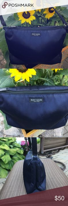 Kate Spade Navy Blue Nylon Bag Kate Spade Navy Blue Nylon Bag!! Super cute!!! Perfect Condition!! Never used!!! ✨ kate spade Bags