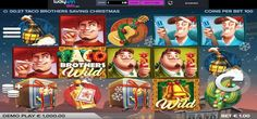 Taco Brothers Saving Christmas Slots Games - Play Now and Get into the Festive Mood at www.LuckyWinSlots.com.  You could be our next big winner!