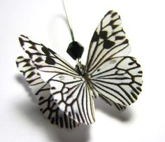 Statement Earrings - Black and White Earrings - Butterfly Zebra Earrings - Black and White Jewelry - Dangle Earrings - Silver Gold Ear Wire USD) by SpotLightJewelry Butterfly Gifts, Butterfly Jewelry, Statement Earrings, Dangle Earrings, Zebra Print Rug, Black And White Earrings, Striped Wedding, Black White Stripes, Dangles