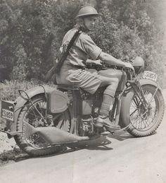 A Velocette, and it looks like an Australian military number