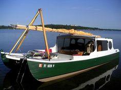Small Houseboats   Catamaran Kits Crab Claw Cat Sailboat Kit - Shell Boat Kits
