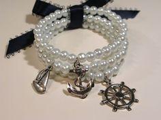 Sailing pearl bracelet
