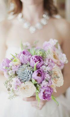 Breathtaking lush light purple wedding bouquet; Featured Photographer: Vicky Starz Photography