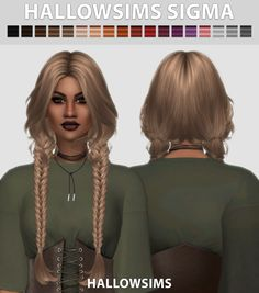The Sims 4 by Kasia: Fryzura Sigma Sims 4 Cas, My Sims, The Sims 4 Packs, The Sims 4 Cabelos, Pelo Sims, Roxy, Sims 4 Game Mods, Sims 4 Characters, Sims4 Clothes