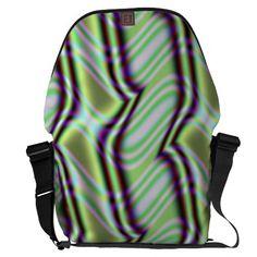 Minty Alley Design Large Messenger Bag