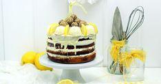 Zitronentorte, Zitronenkuchen mit Kokosfüllung, Lemon-Cocos-Cake, Recipe Lemon cake, Cocos-Filling, Raffaellos, Antonellas Backblog, Blogevent