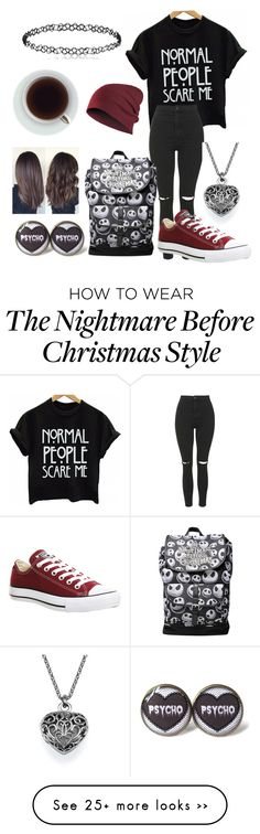 """""""Ideal uni outfit"""" by izzy-wylde on Polyvore featuring mode, Topshop en Converse"""
