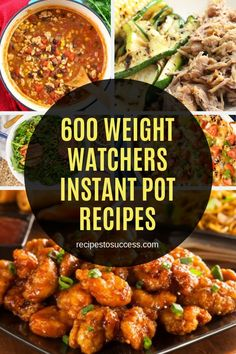 600 Weight Watchers Instant Pot Recipes - Ideal for those who wish to start a weight loss diet, this e-book is just what you need with over 6 - Weight Loss Meals, Healthy Recipes For Weight Loss, Weight Watchers Meals, Healthy Dinner Recipes, Healthy Instapot Recipes, Delicious Meals, Healthy Meals, Ww Recipes, Low Calorie Recipes