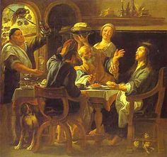 The Supper at Emmaus - Jacob Jordaens