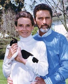 Audrey with Italian actor Robert Wolders.  They were together the final years of her life.
