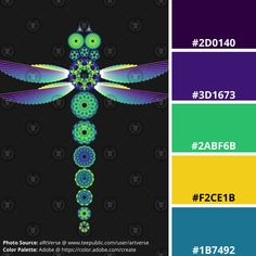 Available on various clothing and products from teepublic(dot)com/user/artverse Inspired by the beauty of jewel toned dragonflies created specially generated data in R studio using polygon algorithms for the mandalas and circular bar charts. Math Art, Science Art, Geometric Mandala, Geometric Shapes, E Design, Graphic Design, Insect Wings, Room Wall Painting, Code Art