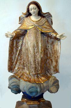 Nossa Senhora das Mercês Madeira policromada / Século XVIII Acervo: Museu de Arte Sacra/UFBA
