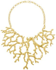Kenneth Jay Lane Branch Bib Necklace