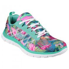 c99a51b353cf Skechers Ladies Womens Flex Appeal Floral Bloom Trainers