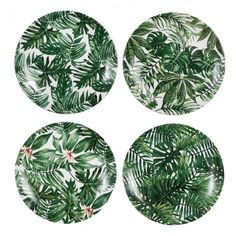 Leaf Design Porcelain Plates. Turn over a new leaf and finally be sure to enjoy your greens come tea time with these beautiful porcelain plates inspired by the greatest designer of them all - mama nature.
