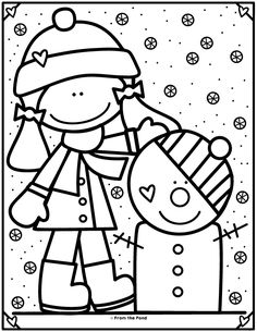 Coloring Club Library – Aus dem Teich – Coloring Pages/MW - Malvorlagen Mandala Preschool Coloring Pages, Colouring Pages, Coloring Pages For Kids, Coloring Books, Mandala Coloring, Adult Coloring, Winter Fun, Winter Theme, Christmas Activities