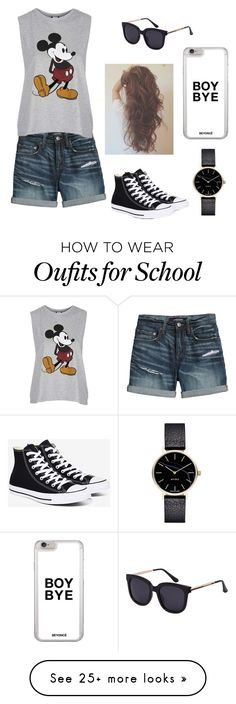"""""""Last Day Of School"""" by mikaela54321 on Polyvore featuring Canvas by Lands' End, Topshop, Converse and Myku"""