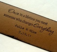 An great quote that could be used on wedding DIY projects. Wow! I love this!