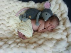 Muis Febee met een newborn baby..! #haken #haakpatroon #gehaakt #amigurumi #knuffel #gehaakt #crochet #häkeln #cutedutch