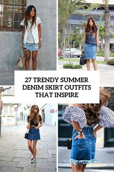39ebfe4d55a 27 Trendy Summer Denim Skirt Outfits That Inspire - Styleoholic