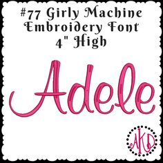 simple triple stitch applique font machine embroidery designs inch high