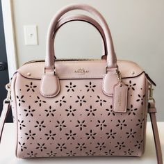 Coach mini crossbody bag Brand new with tag in pink color with silver hardware and comes with adjustable shoulder strap!! 100% authentic Coach Bags Crossbody Bags