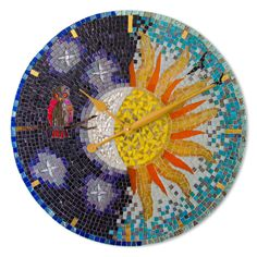 Dawn to Dusk Mosaic Wall, Mosaic Glass, Stained Glass, Dot Art Painting, Arts And Crafts Projects, Holiday Crafts, Wall Art, Dusk, Beauty