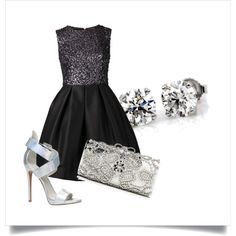 Reception, Shoe Bag, Formal Dresses, My Style, Polyvore, Collection, Shopping, Shoes, Black