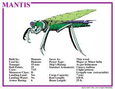 Spelljammer Ship - Mantis