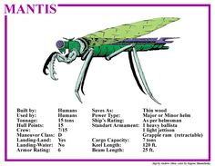 Spelljammer Ship - Mantis