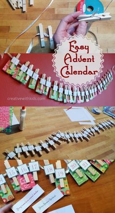 Simple DIY Advent Calendar with Christmas Activities