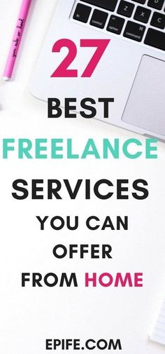 These 27 types of best freelance services can help you pursue a passive income online. Wondering, what to offer from home? Get highly-paid freelance jobs and start earning from home. Whether you are a mommy blogger or an individual these jobs can make you earn good income from home. Other than freelance writer and freelance designers - there are 25 more! Click to get it and Pin!