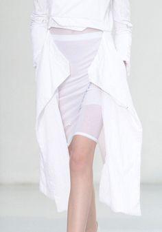 Mesh skirt with double zip shirt