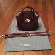 Mini Cara Delevingne Bag in Oxblood I am selling this gorgeous Mulberry Mini Cara Delevingne Bag in Oxblood Natural Leather. I bought this from Gilt in October 2015 and found myself not using the purse as much. I have only used ten times. This is a three in one style and can be worn on the back, shoulder or carried hand held. I am able to fit my wallet, iPhone, make up and other misc. items in here. Hand made in Somerset, England. Please visit mulberry.com for additional details on the…