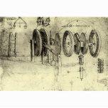 Engineering Sketch of a Wheel by Leonardo da Vinci Poster | Zazzle