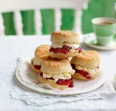 Fluffy scones smothered in jam and cream – what's not to love?
