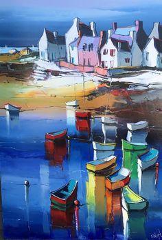 Eric Lepape The small beach of Lesci Landscape Art, Landscape Paintings, Nautical Prints, Art Village, Cityscape Art, Mini Canvas Art, Art Drawings Sketches Simple, Naive Art, Urban Sketching