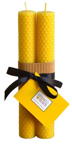 100% pure beeswax candles carefully rolled to give 20 hours of pure & natural candlelight per pair. #rolled #beeswax #candles http://goldandblackcandles.co.uk/beeswaxcandles/