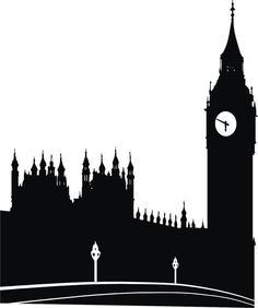 Big Ben London Palace of Westminster Clock by VINYL2079DECALS