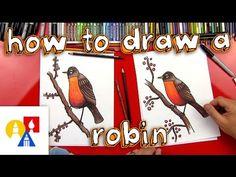 birds in art - How To Draw A Robin Bird (Realistic) Art For Kids Hub Art For Kids Hub, Art Hub, Art Activities For Kids, Learn Art, Learn To Draw, 2nd Grade Crafts, Robin Drawing, Birds For Kids, Kindergarten Art Lessons