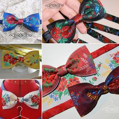 slovak folk motif handmade bow tie by domka design
