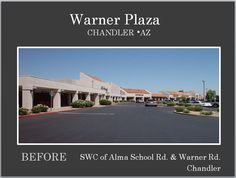 Warner Plaza before Re-Development located in Chandler AZ. Owner Michael A Pollack, Visionary Commercial Real Estate Mogul has helped beautify many plazas and lift communities and their shopping centers.