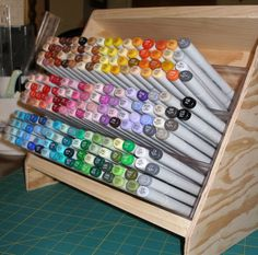 Copic Marker Storage by ahlers5 - Cards and Paper Crafts at Splitcoaststampers